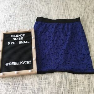 Silence + Noise Purple Overlay Skirt Small